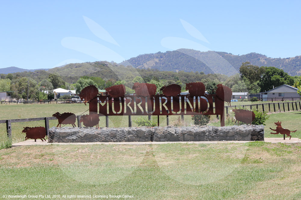 The Murrurundi sign at the southern entrance of the town.