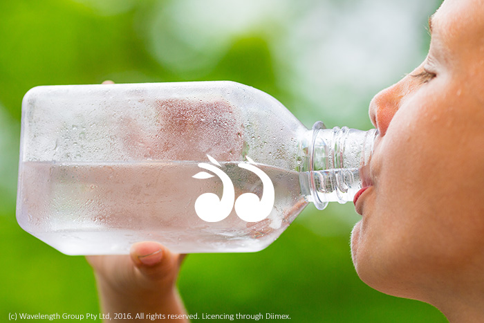 People are encouraged to stay hydrated during the hot weather.