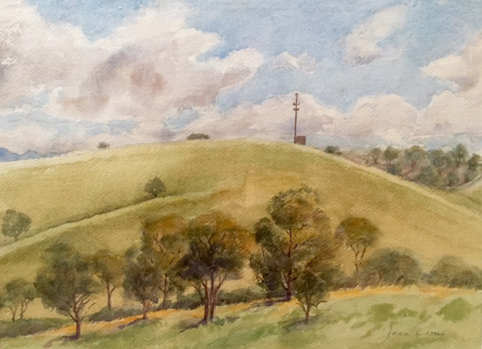 """Jean Davies """"Communication Point"""" Best in Show for the 2016 Murrurundi Art Prize. Photograph courtesy of the Murrurundi and District Art Council."""