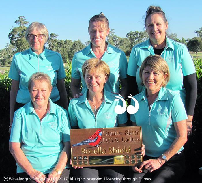 District Pennant Winning Ladies: Back: Kathy Robinson, Kerry McLeannan and June Jukes. Front: Sue Watts, Lyn Banks aand Julie Leckie.