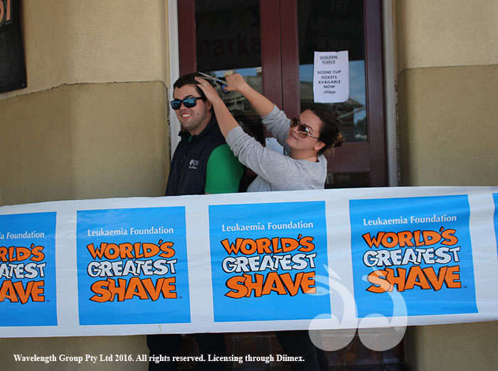 Mac Dawson and Meg Adams are hoping to get more donations before Saturday's Leukaemia Foundations World's greatest Shave.