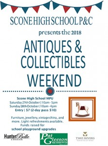 Scone Antiques and Collectables Weekend @ Scone High School - Multi-Purpose Centre | Scone | New South Wales | Australia