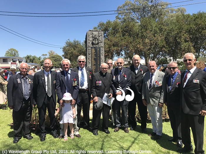 Returned service men gathereed at the Scone war memorial on remembrance day.