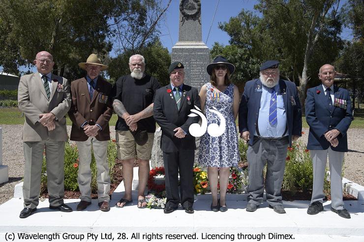 Merriwa RSL Sub-Branch Members ith nominee Sally Hagley: Rod Wicks, Tony Marshall, Chris Mitchell, Brion Booth, Mal Frame and Max Jarrett. Photo: Mike Wong.