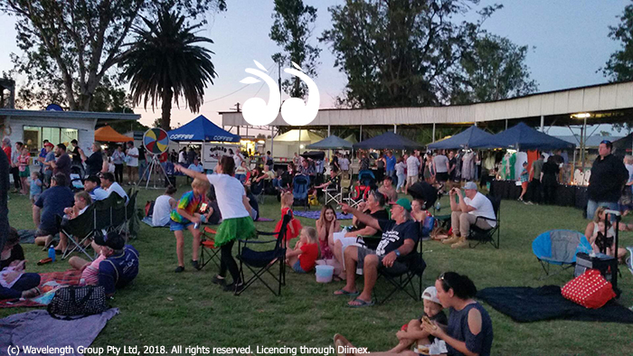 The community gathered at White Park in Scone to celebrate Christmas and enjoy the fireworks.