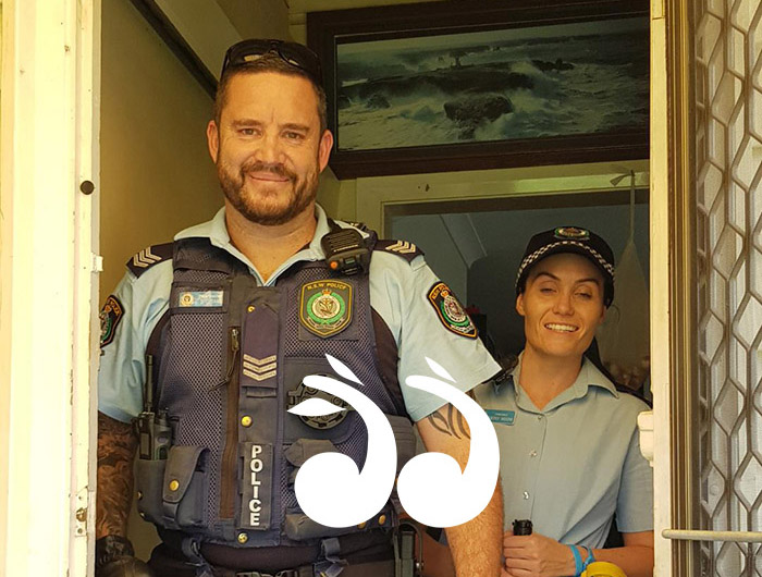 Local police, Shaun Cloake and Ebony Moore apprehended an intruder of the most dangerous kind.