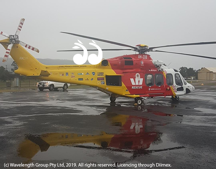 The Tamworth based Westpac Rescue Helicopter at Scone airport.