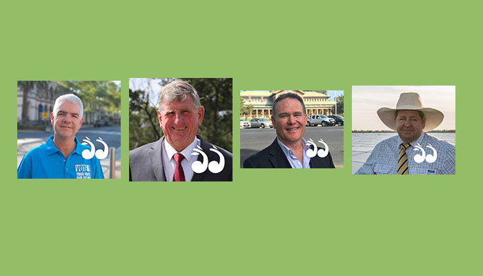 Four candidates running in tomorrow's federal election.