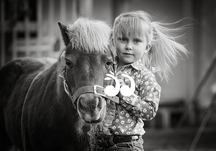 """Peas in a Pod"" Hannah and her Pony. Photo: Amanda Ray Images."