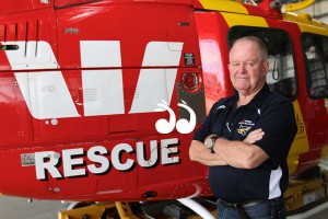 Barry Walton has retired from the Westpac Rescue Helicopter service after 44 years of flying to the rescue. Photo: Westpac Rescue Helicopter.