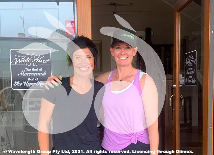 Dayna Hynes and Jennifer Sanders organised the Push 48 Fitness challenge to raise funds for swimming lessons for Murrurundi Public School students